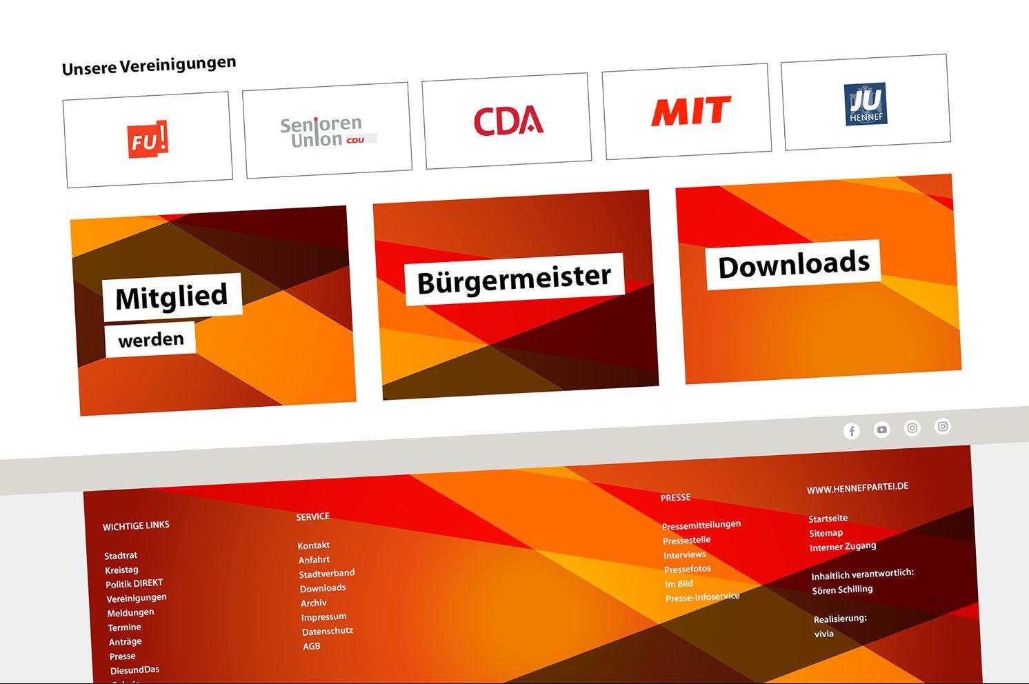 Die Hennefer CDU neu im Web