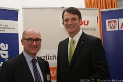 Michael Kremer (l.) mit dem Landtagskandidaten Björn Franken (r.)