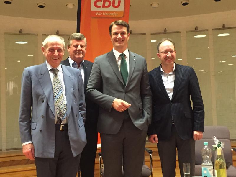 Lamers, Lindlar, Franken und Wallau (vlnr)