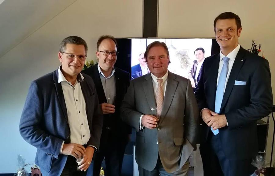 Björn Franken mit seinen Gästen