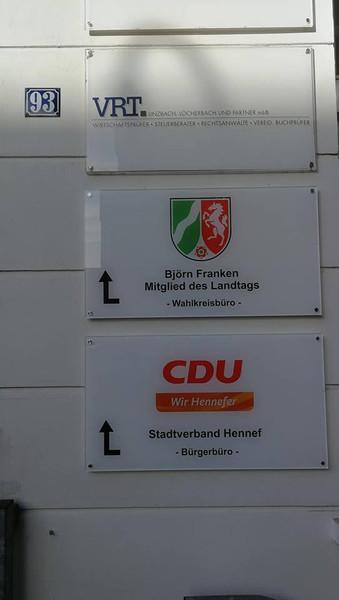 CDU und MdL im Herzen Hennefs